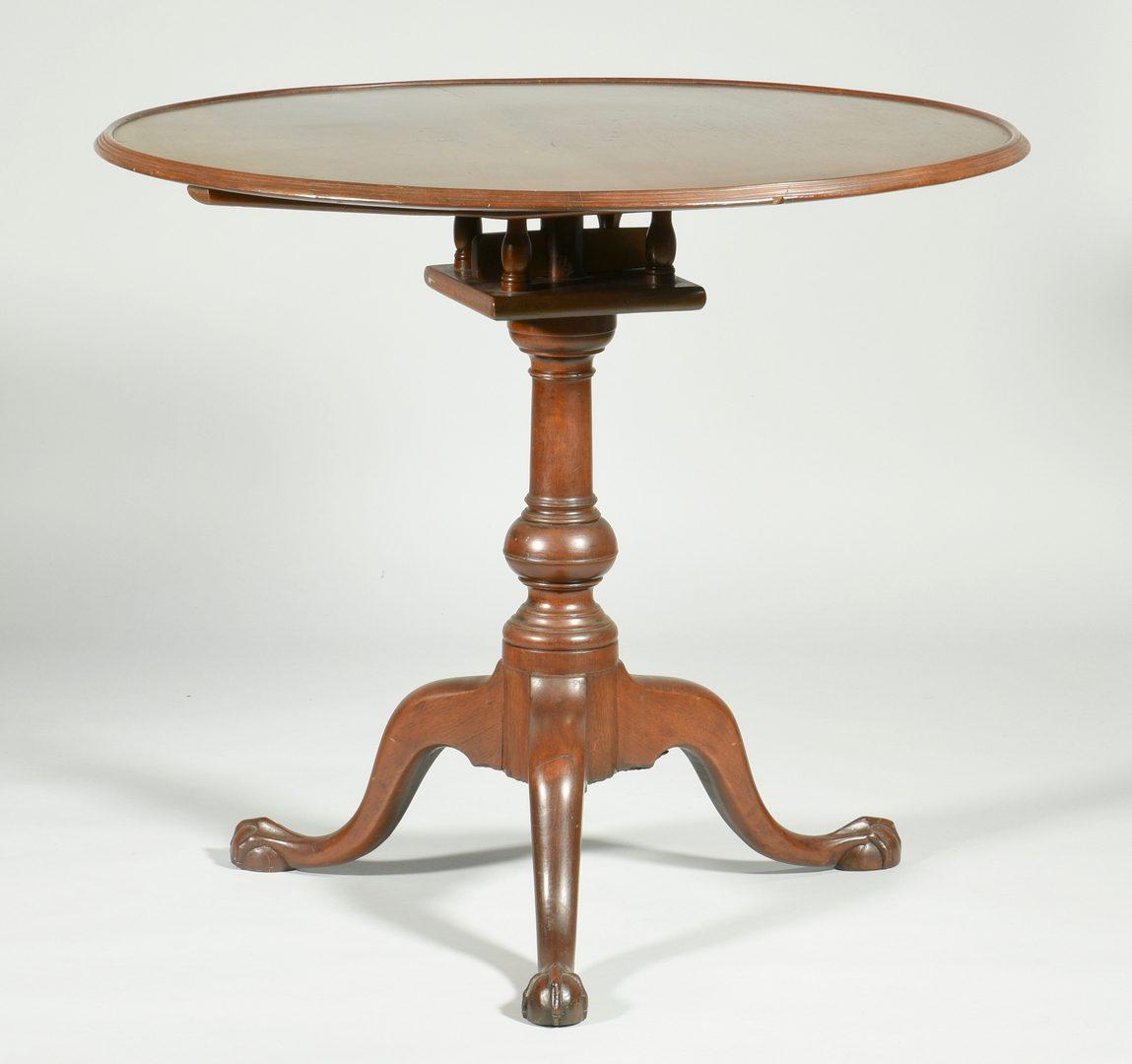 Lot 114: American Chippendale Tilt-top Tea Table