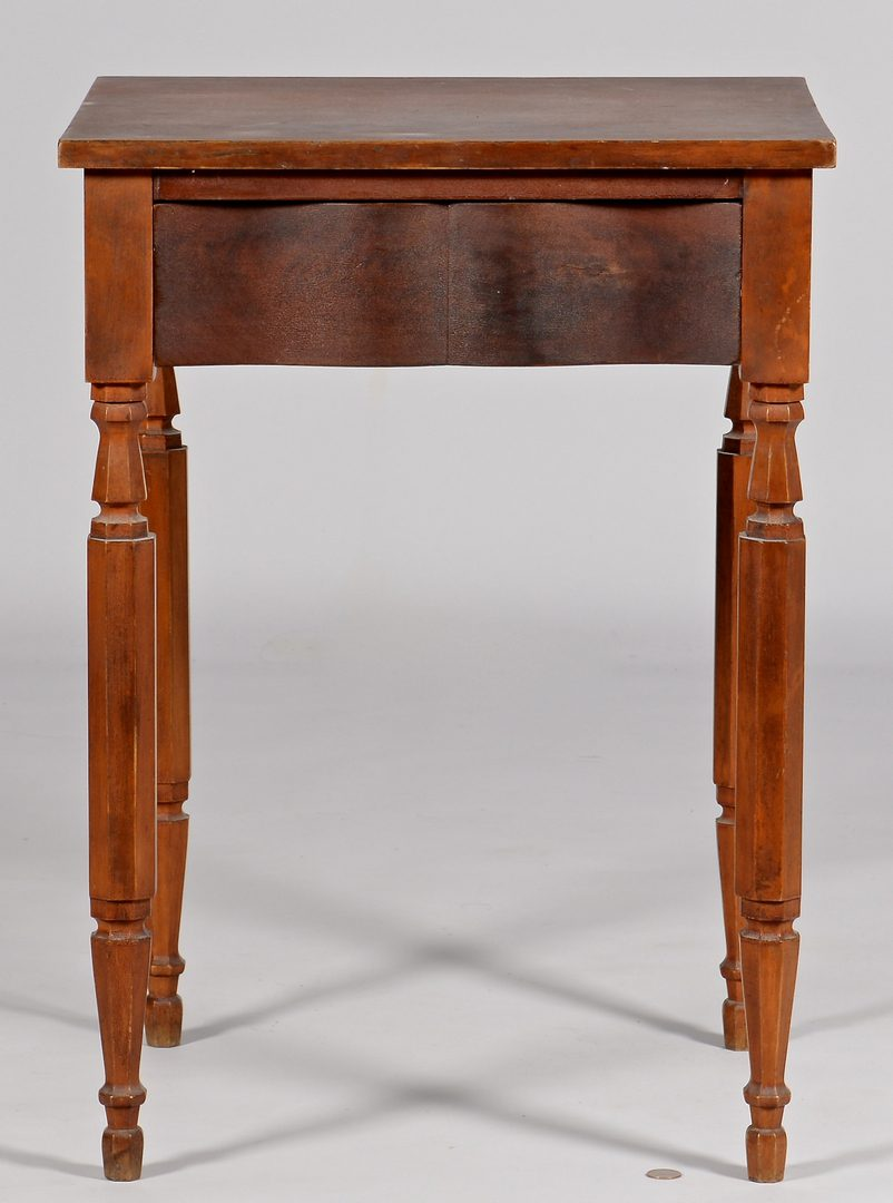 Lot 115: Ohio River Valley Cherry Table, Shaped Drawer