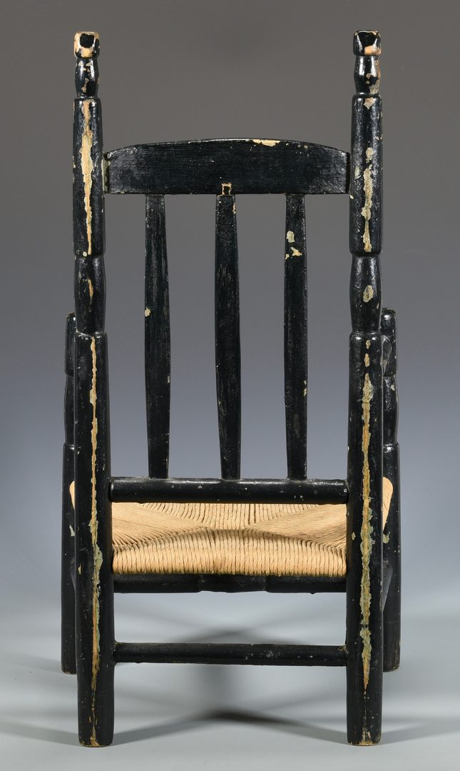 Lot 118: Eastern NC Child's Painted Arm Chair