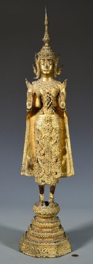 Lot 11: Southeast Asian Gilt Bronze Buddha