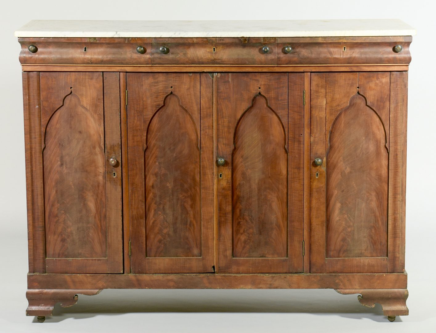 Lot 121: TN Gothic Revival Sideboard, Exhibited and Illustrated