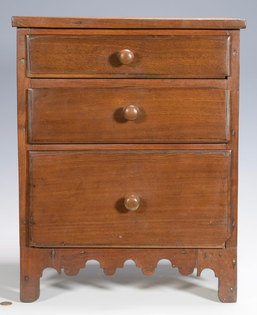Lot 123: East TN Miniature  Chest of Drawers