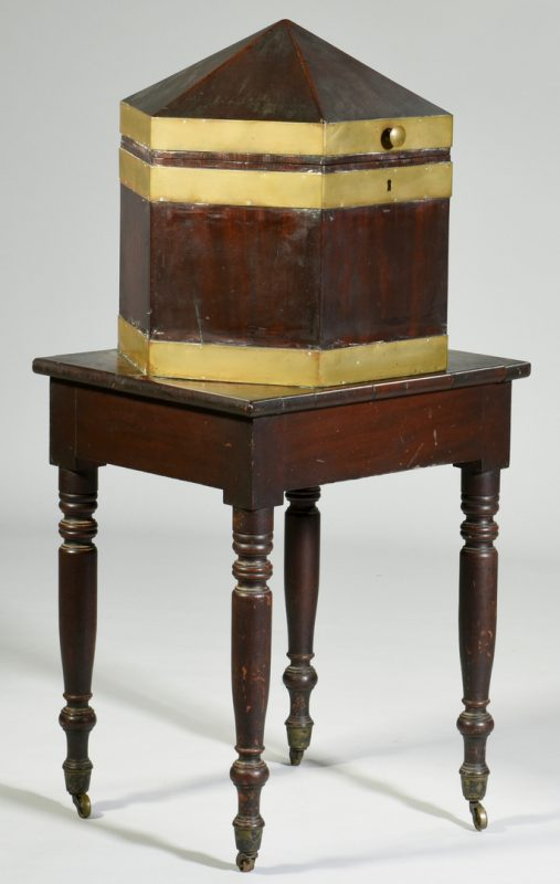 Lot 126: Southern  Octagonal Cellarette on Stand
