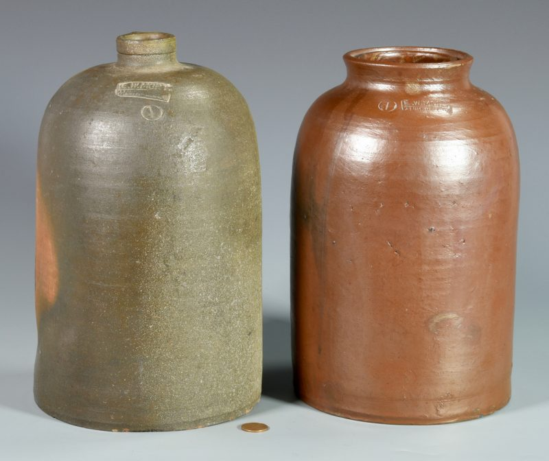 Lot 137: 2 pcs SW Virginia Stoneware , E.W. Mort