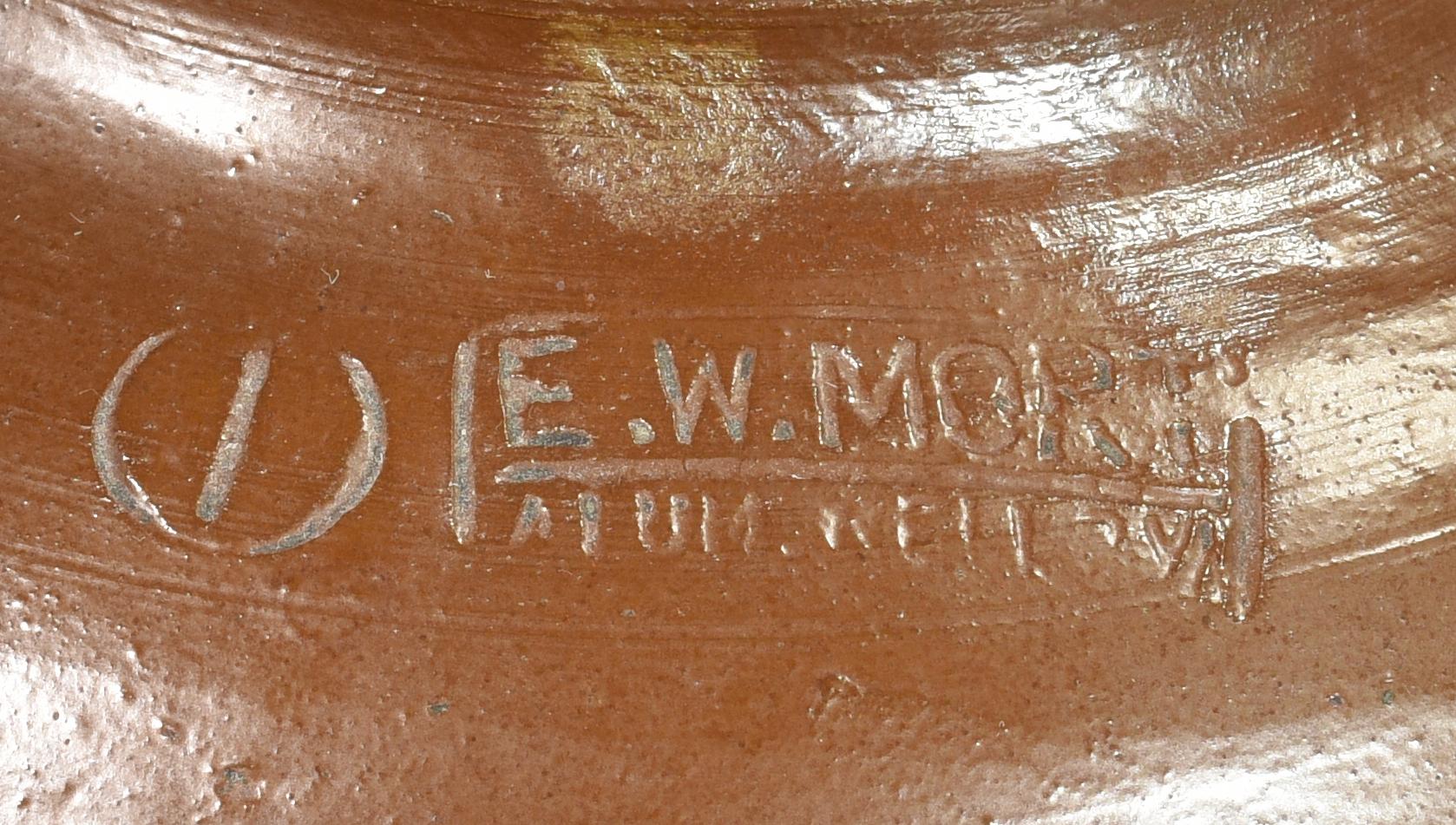 Lot 137: 2 pcs SW Virginia Stoneware , E.W. Mort