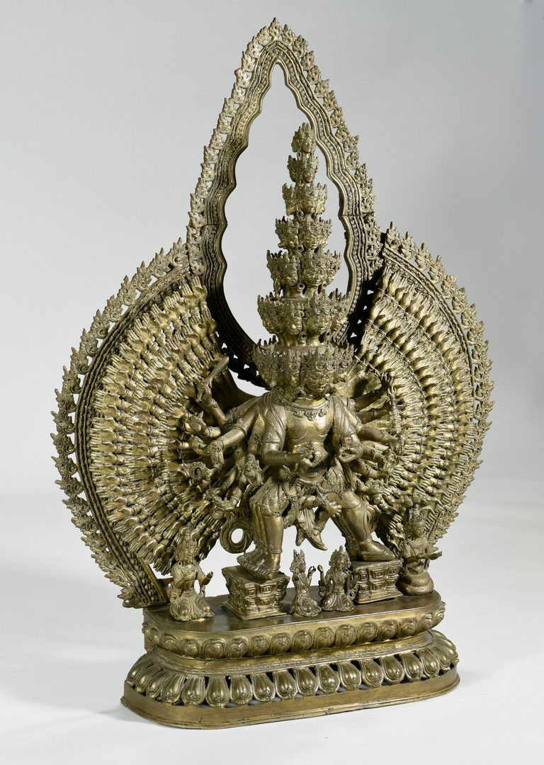 "Lot 13: Bronze 43"" Tibetan Avalokitesvara Sculpture"