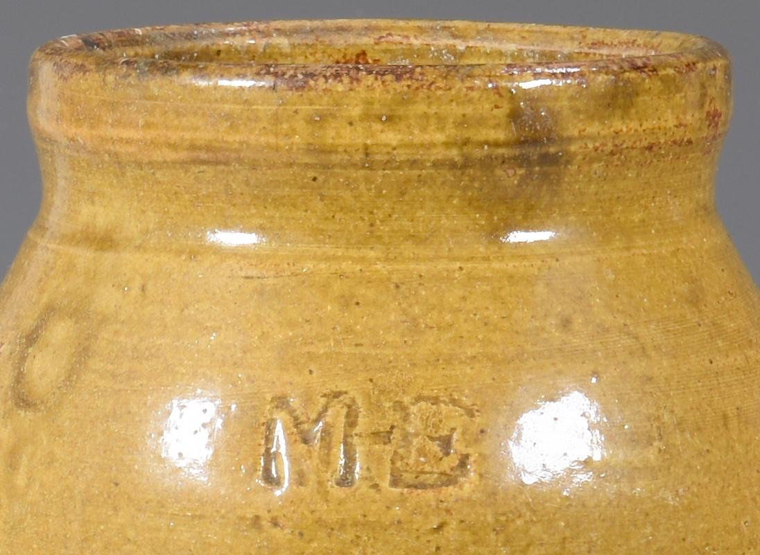 Lot 141: Alabama Pottery Jar, Marks for Martin H. Eckerbusch