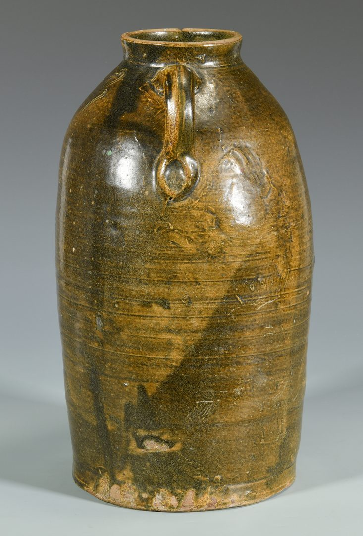 Lot 142: Alabama Alkaline Glazed Pottery Jar