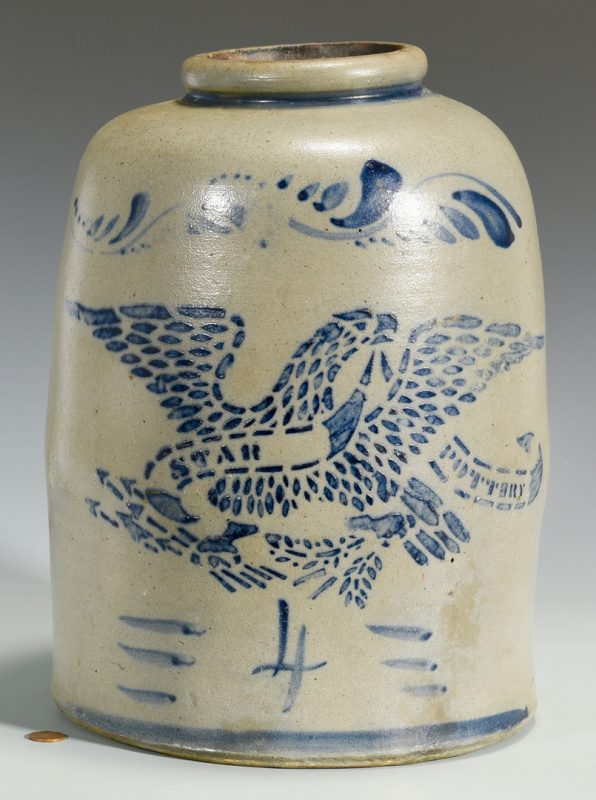 Lot 143: PA Star Pottery Stoneware Eagle Jar