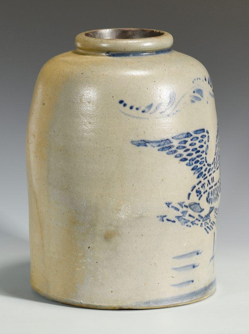 Lot 143: PA Star Pottery Stoneware Eagle Jar