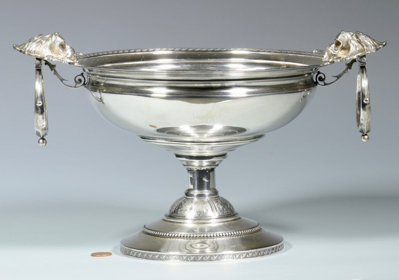 Lot 147: Wood & Hughes, NY  Silver Compote