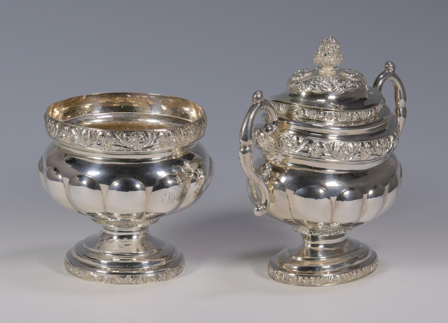 Lot 148 New York Coin Silver Tea Service