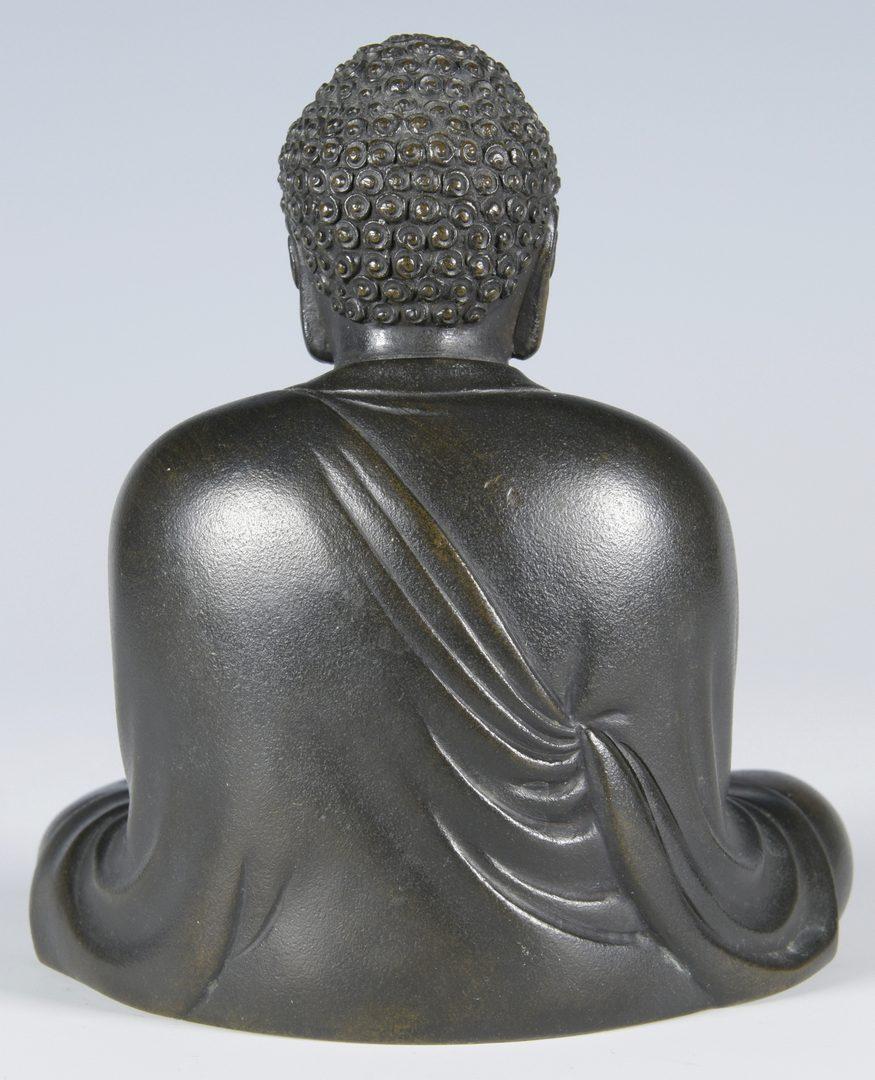 Lot 14: Japanese Signed Bronze Buddha