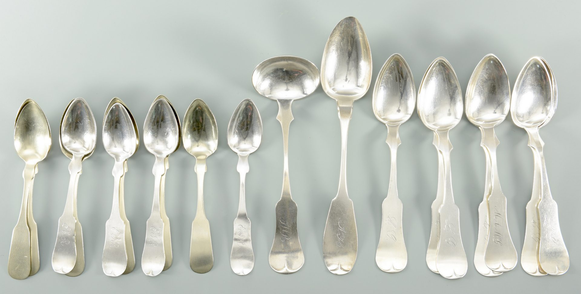 Lot 153: Assorted Kentucky Coin silver Flatware
