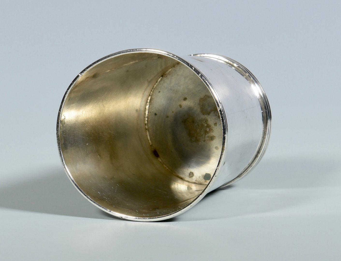 Lot 158: Alexandria, Virginia Coin Silver Cup, Adam , Polk History