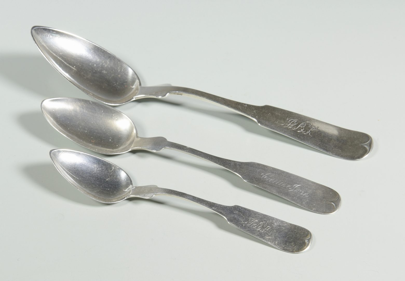Lot 162: Group Memphis Coin silver flatware
