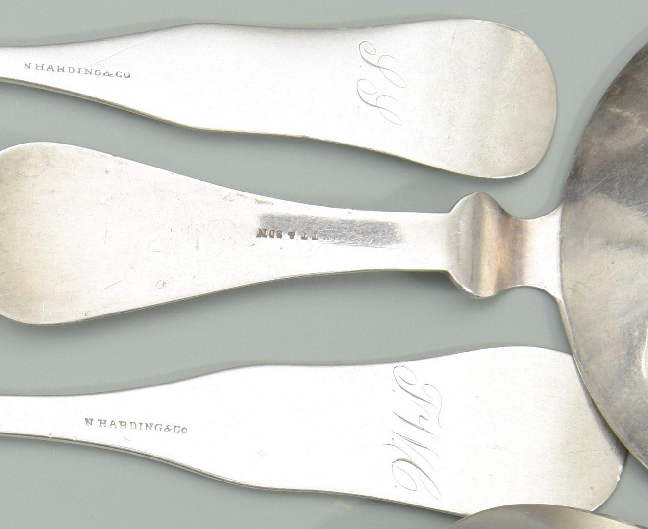 Lot 164: Coin Silver Flatware inc. F.H. Clark, 17 pcs