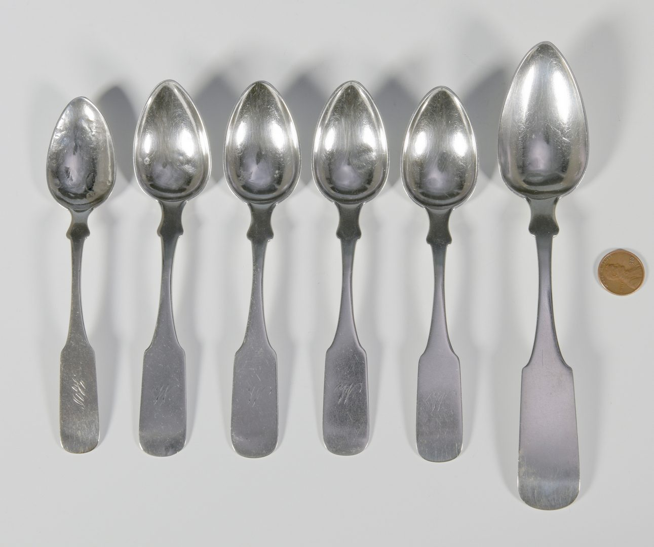 Lot 166: 6 Gowdey and Peabody TN spoons
