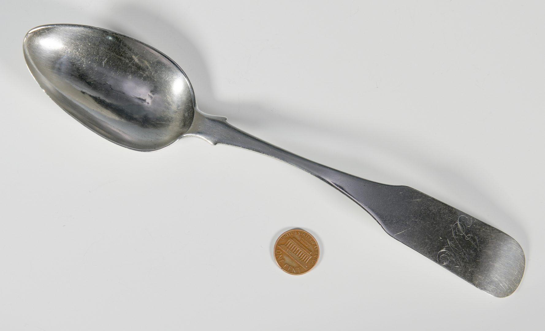 Lot 168: Raworth & Gordon TN Coin Silver Spoon