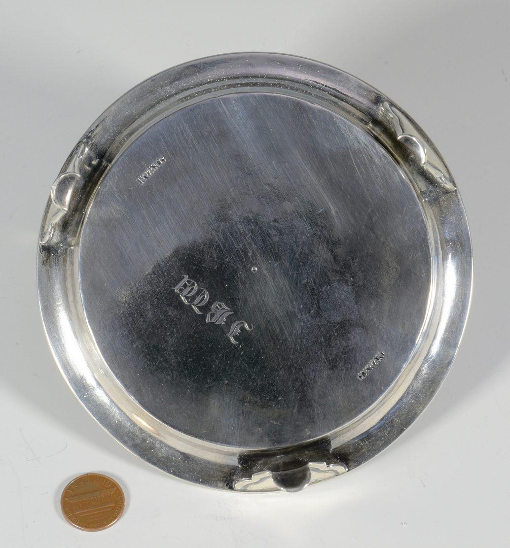 Lot 170: J. Ewan SC Coin Silver Salver – plus 6 Northern spoons