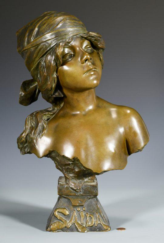 Lot 175: E. Villanis Bronze Bust of Child