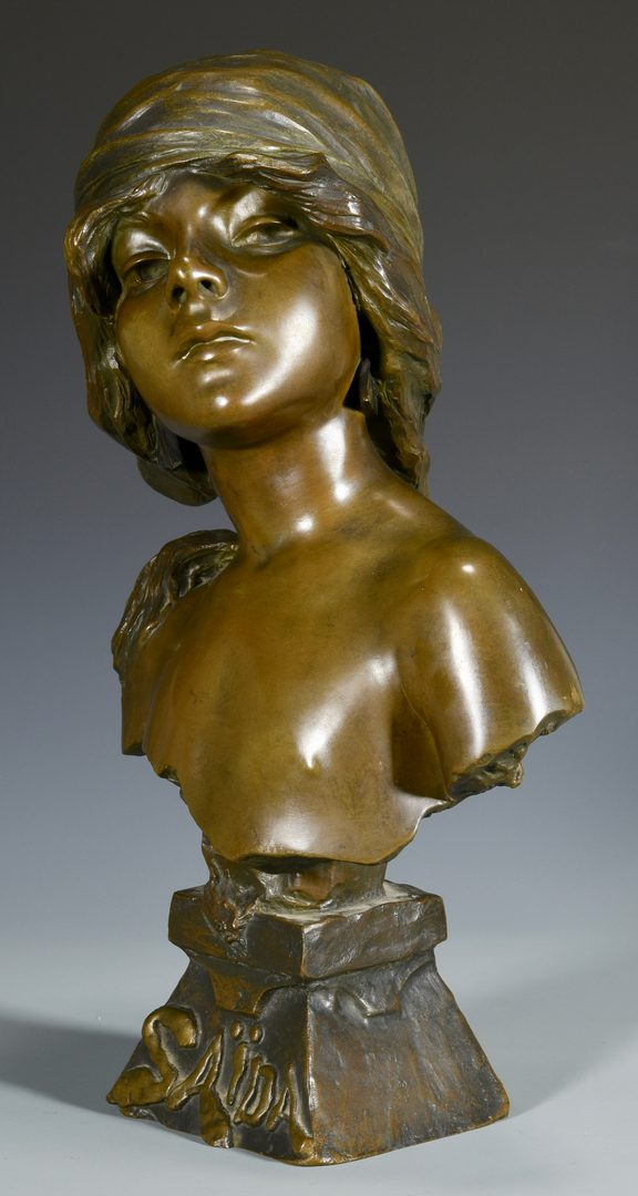 Lot 175: E. Villanis Bronze Bust of Child