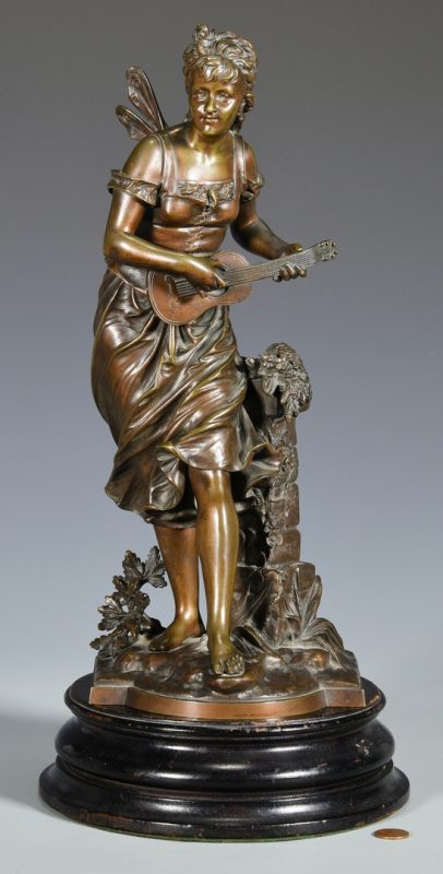 Lot 176: Eutrope Bouret Bronze Nymph