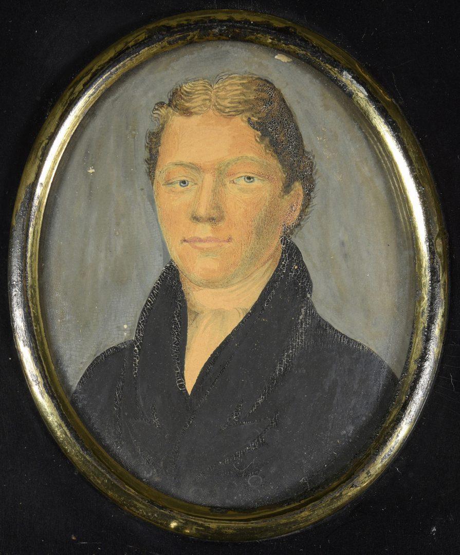 Lot 180: 3 Miniature Portraits inc. signed lady