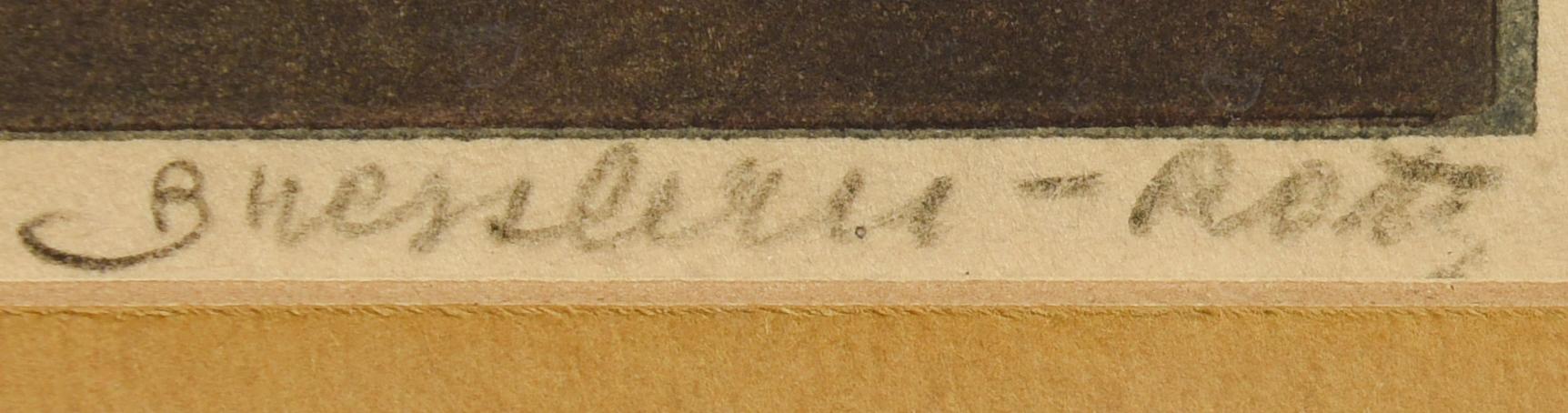 Lot 182: Signed Bresslern-Roth Linocut of Kittens
