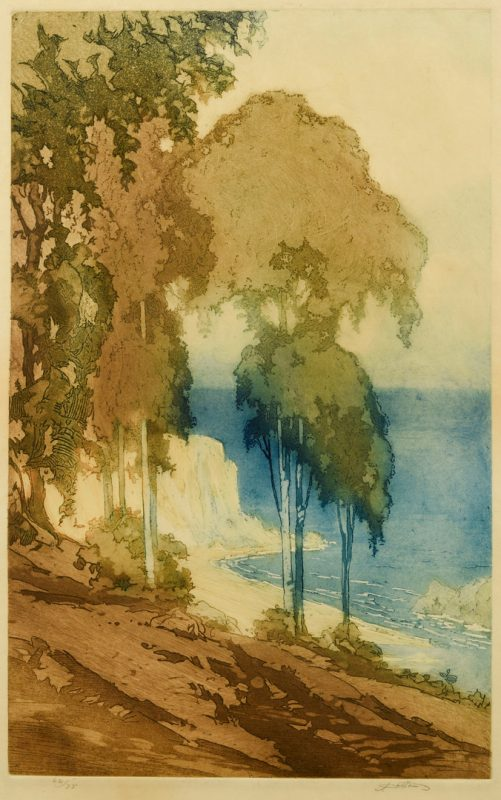 Lot 187: John W. Cotton Color Aquatint