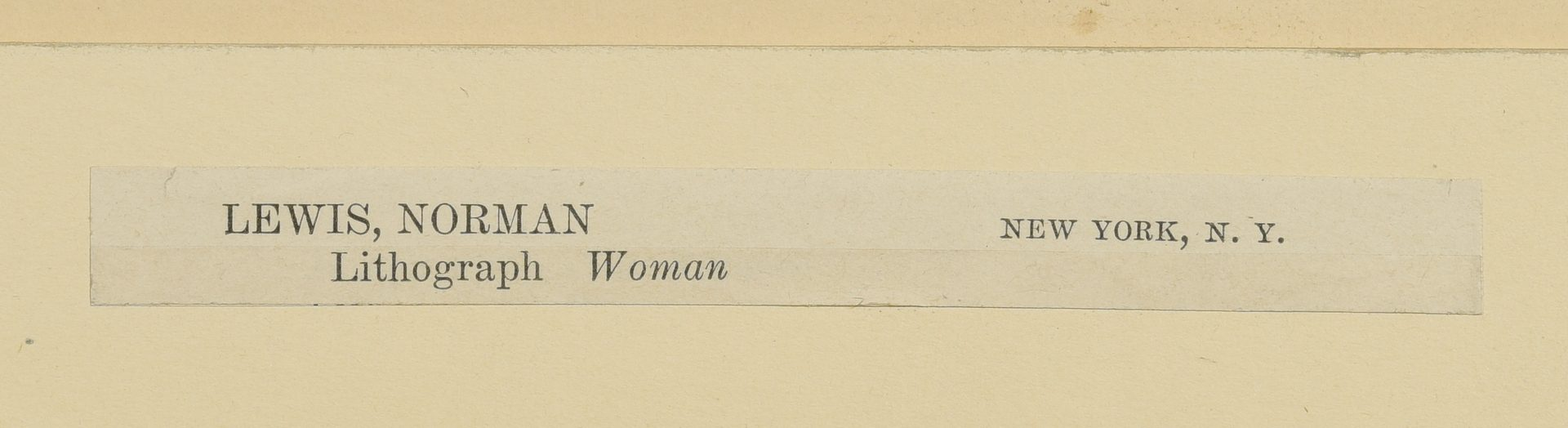 Lot 188: Norman Lewis Lithograph of a Woman