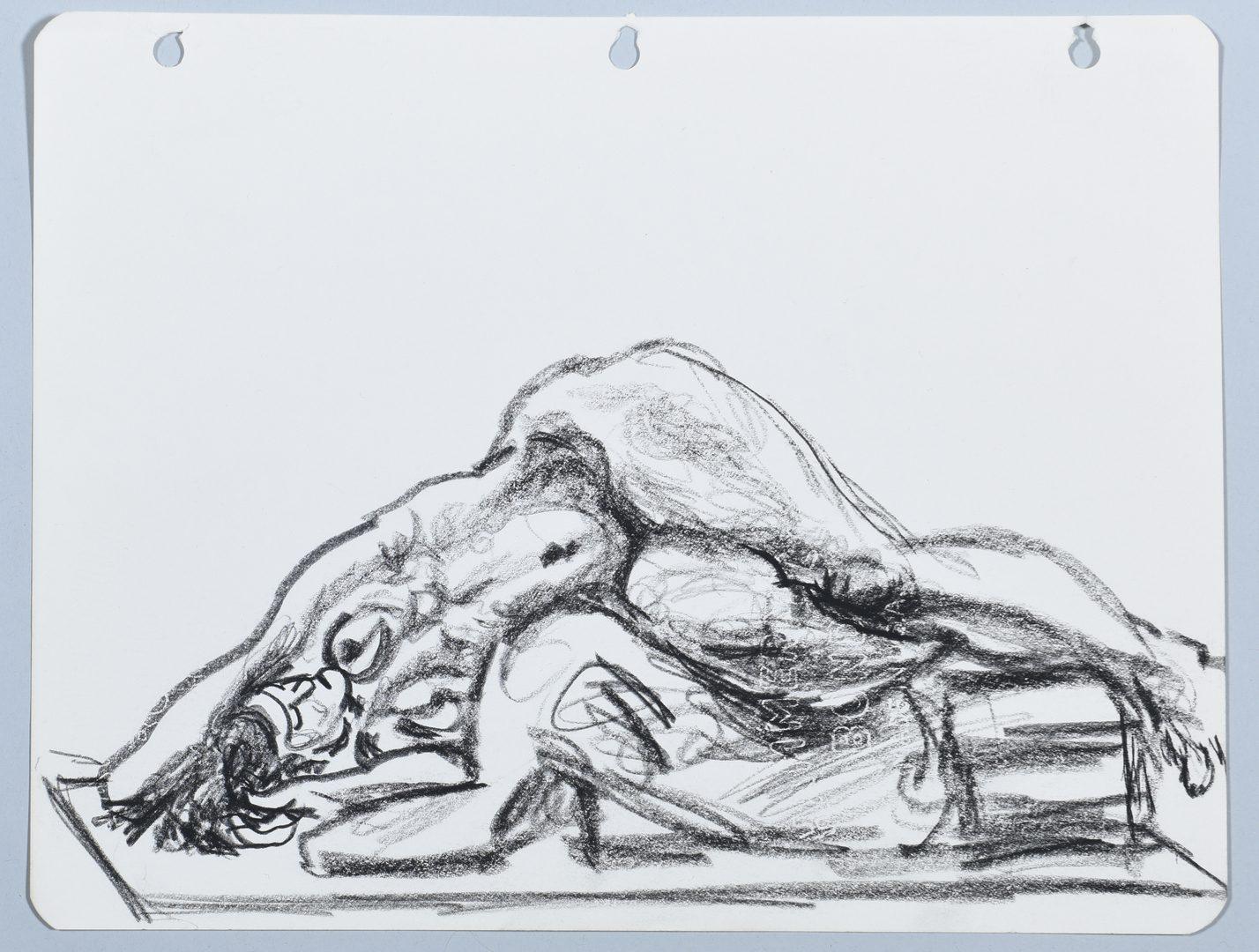 Lot 189: 6 Joseph Delaney Drawings & Alex Haley Letter