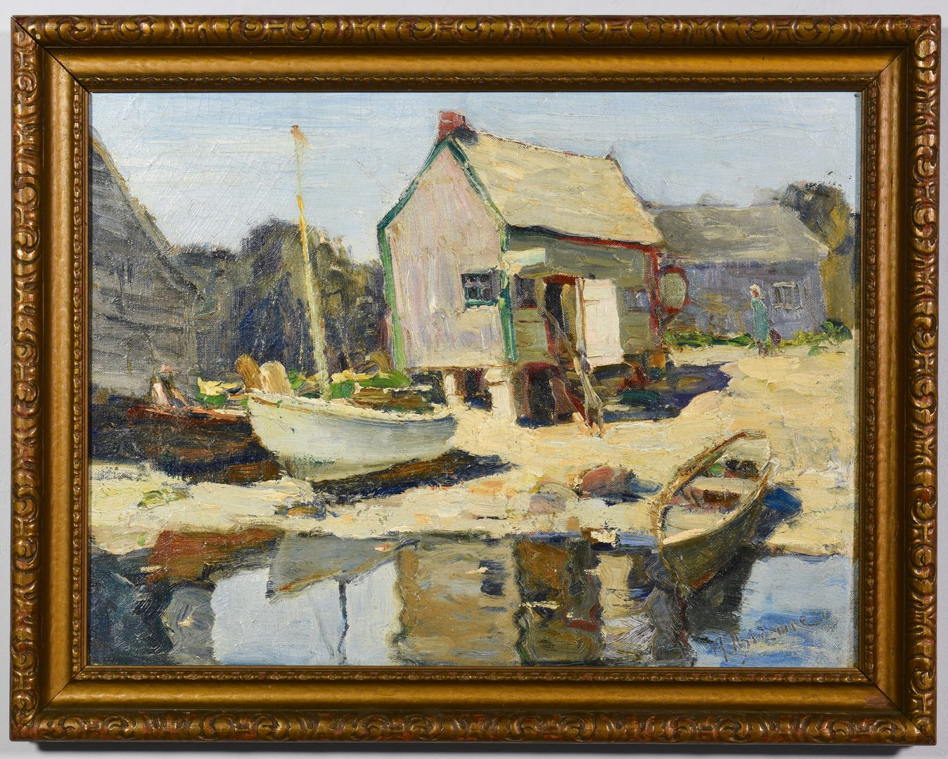 Lot 190: Anthony Thieme O/B, Rockport Lobster House
