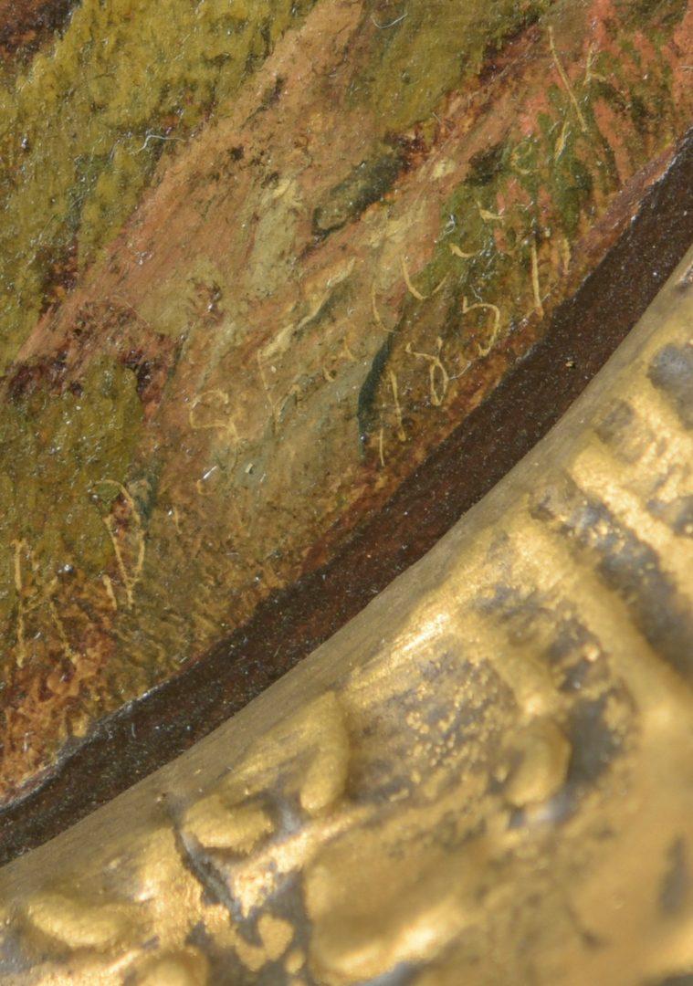 Lot 193: Aaron Shattuck Oil on Canvas Landscape