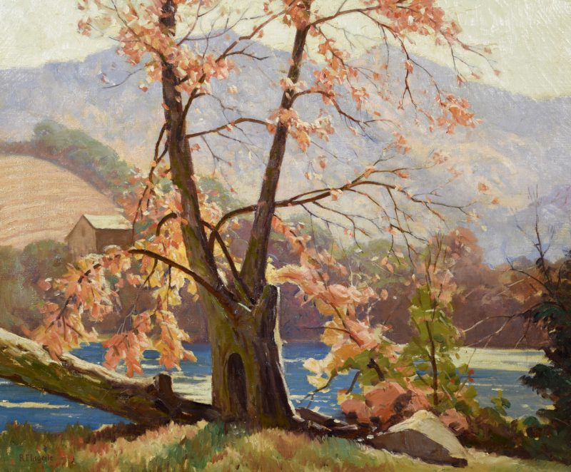 Lot 197: Rudolph Ingerle O/C, Banks of Tuckasegee