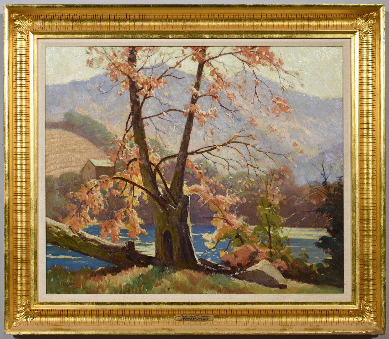 Lot 197: Rudolph Ingerle O/C, Banks of Tuckasegee