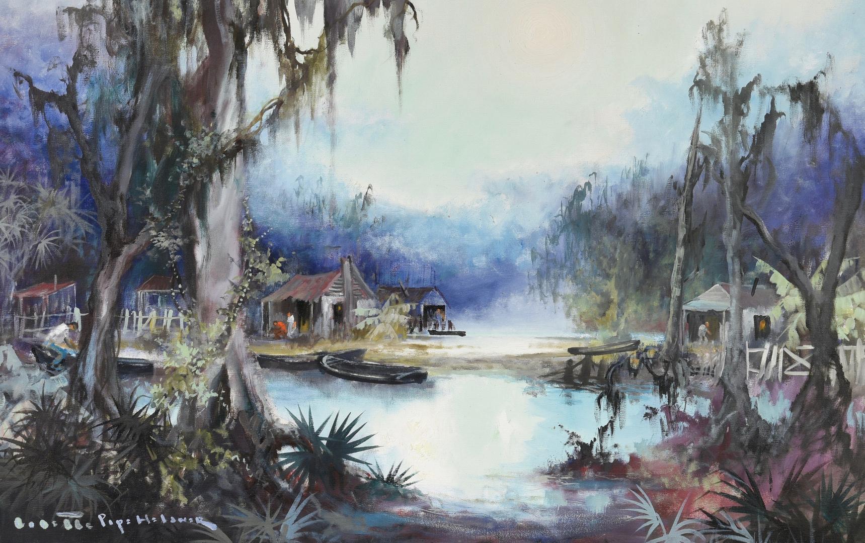 Lot 199 Colette Heldner Swamp Scene Oil On Canvas