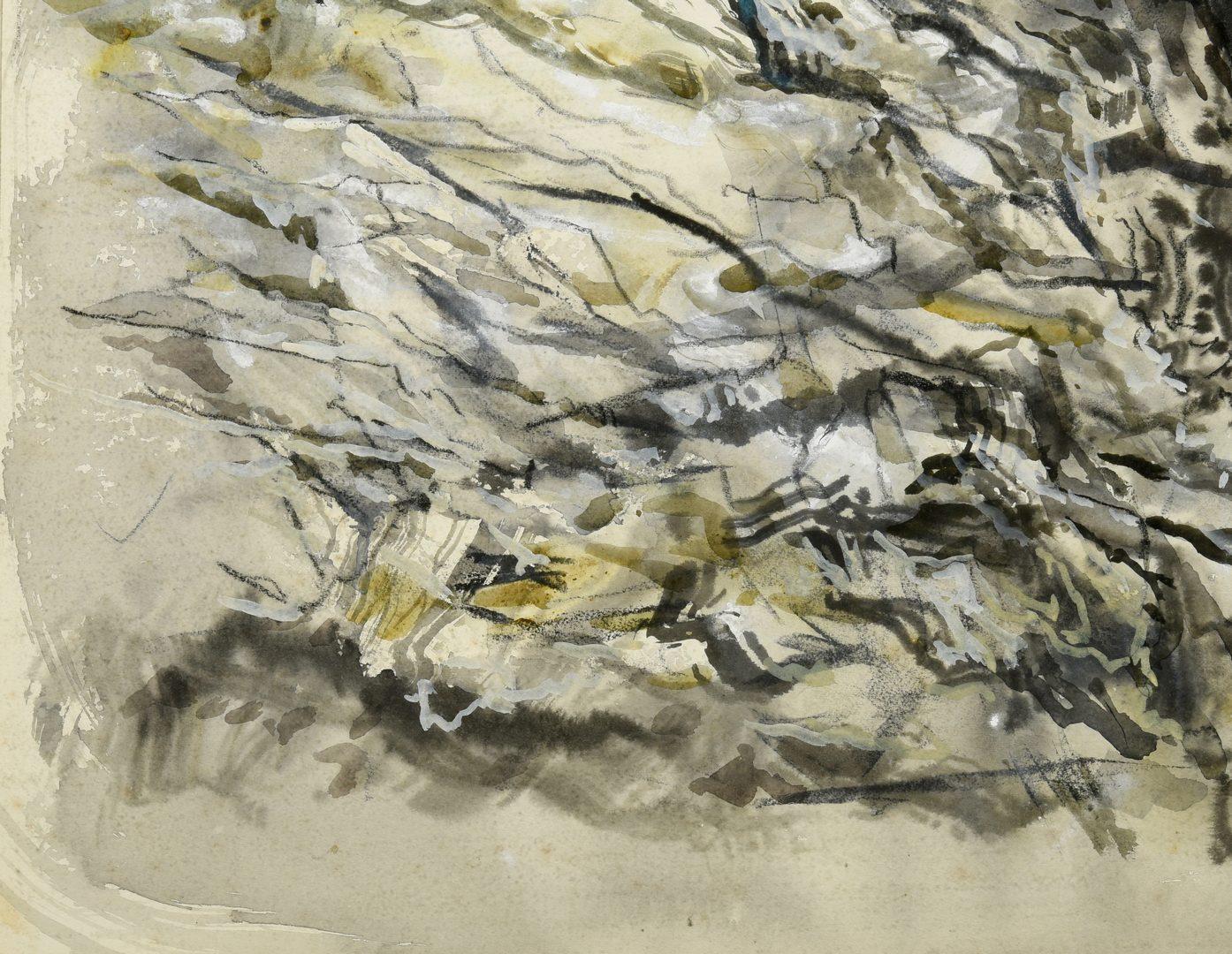 "Lot 200: Lamar Dodd ""Rock Forms"" Watercolor"