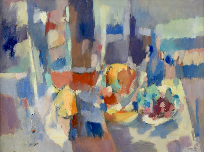 Lot 202: George Cress, AL/TN,  O/C Abstract Still Life