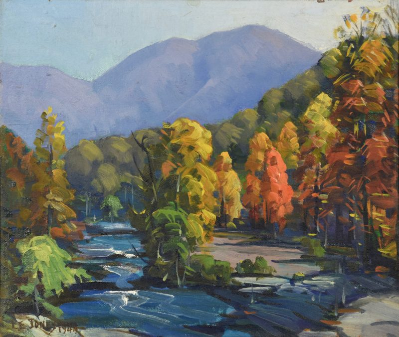 Lot 204: Louis E. Jones Oil On Board, Smoky Mtns