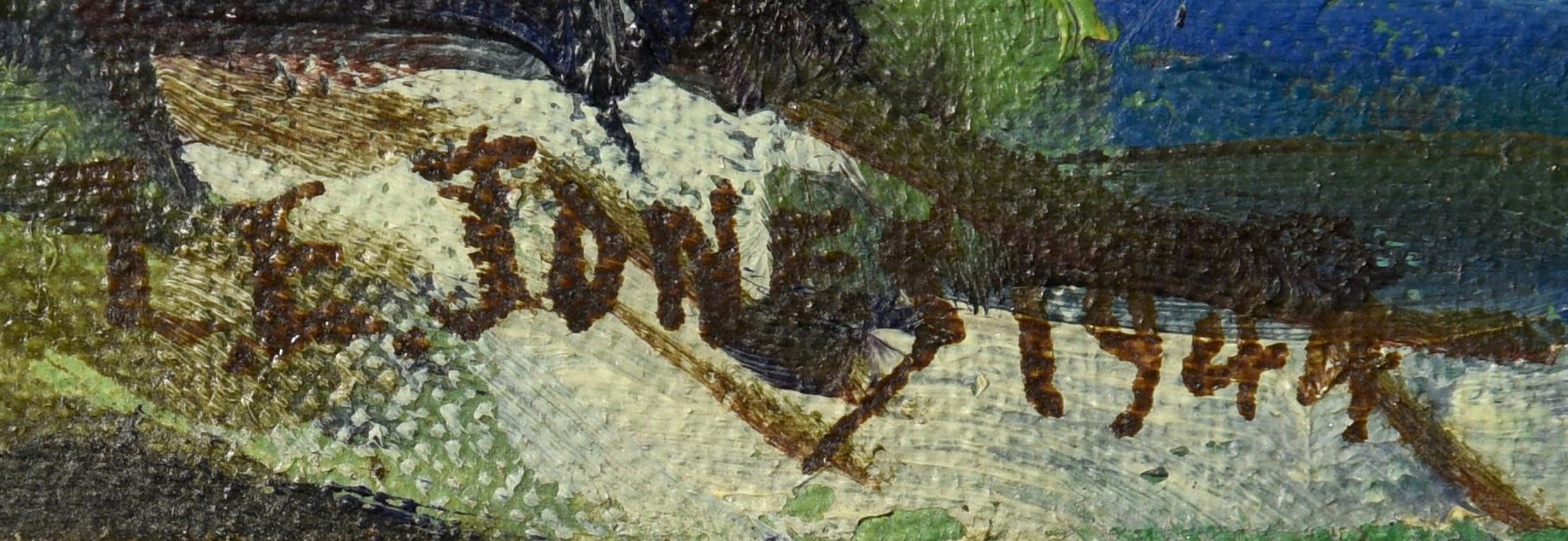 Lot 204: Louis E. Jones Oil On Board, Smoky Mtns