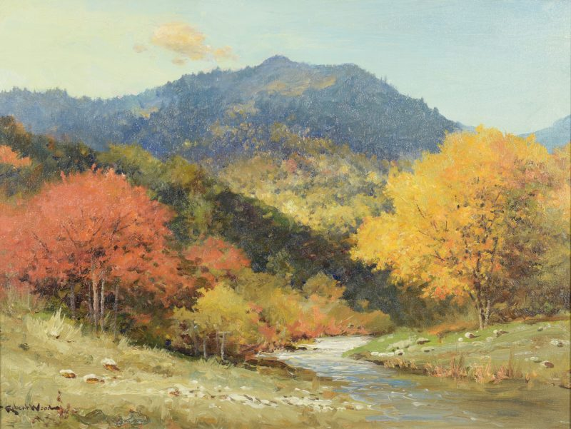 Lot 205: Robert Wood O/C Smoky Mtn Landscape