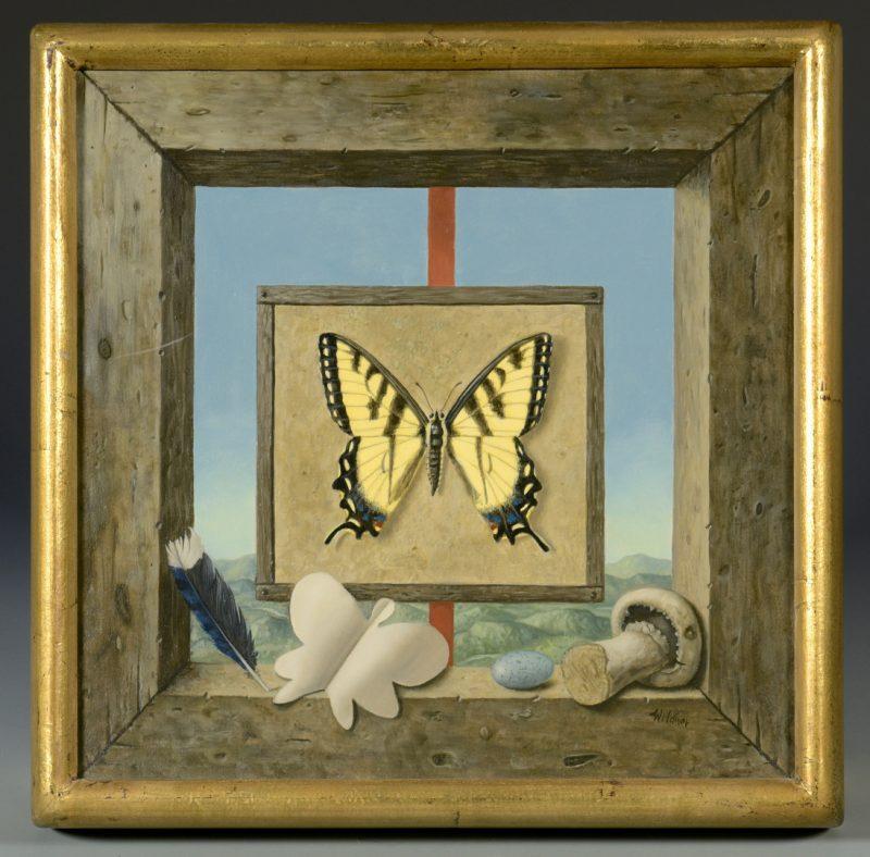 Lot 209: Werner Wildner Trompe L'Oeil painting,