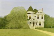 Lot 211: Carroll Cloar Acrylic on Board, Weeping Willow, sold $51,920