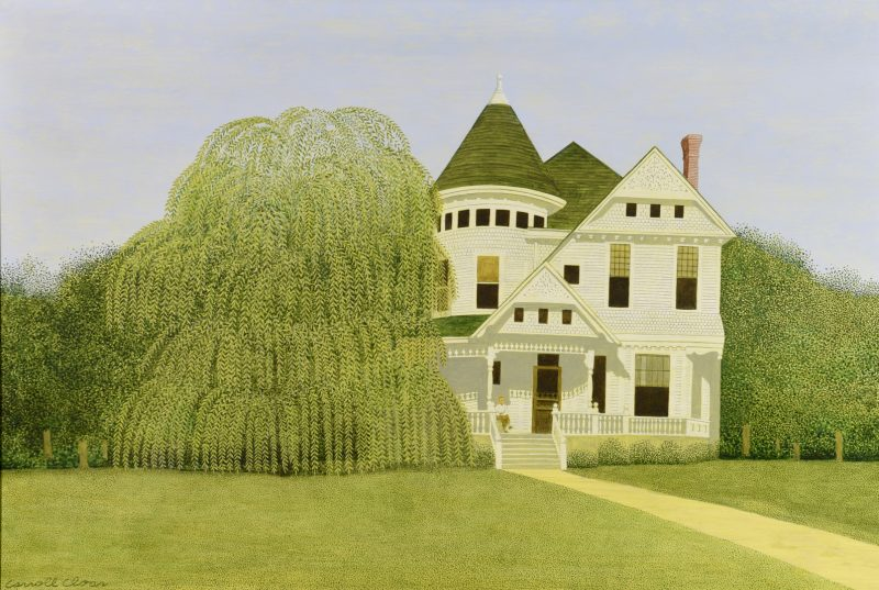 Lot 211: Carroll Cloar Acrylic on Board, Weeping Willow