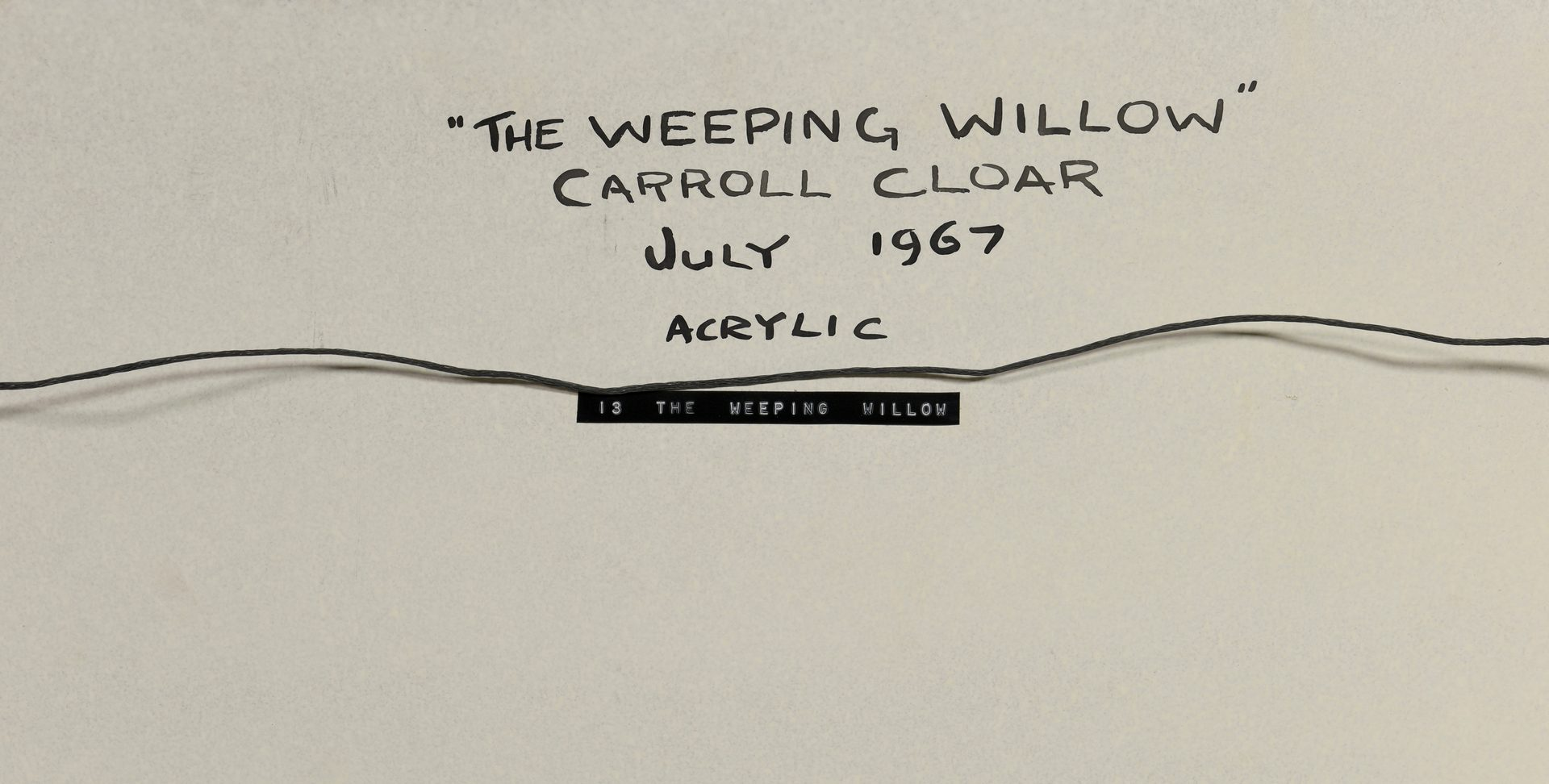 Lot 211: Carroll Cloar Acrylic on Board, Weeping Willow