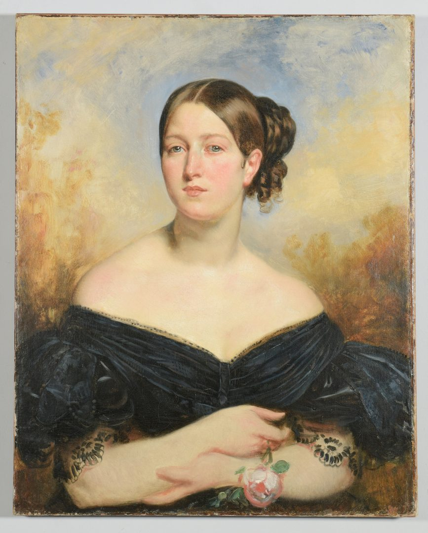 Lot 213: 19th c. Portrait of a Nashville lady