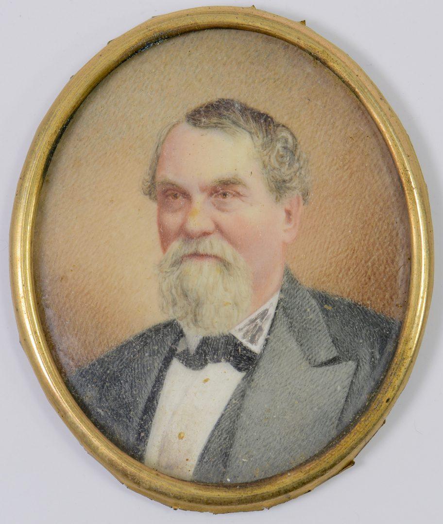 Lot 217: TN Miniature Portrait of Man, Calvert