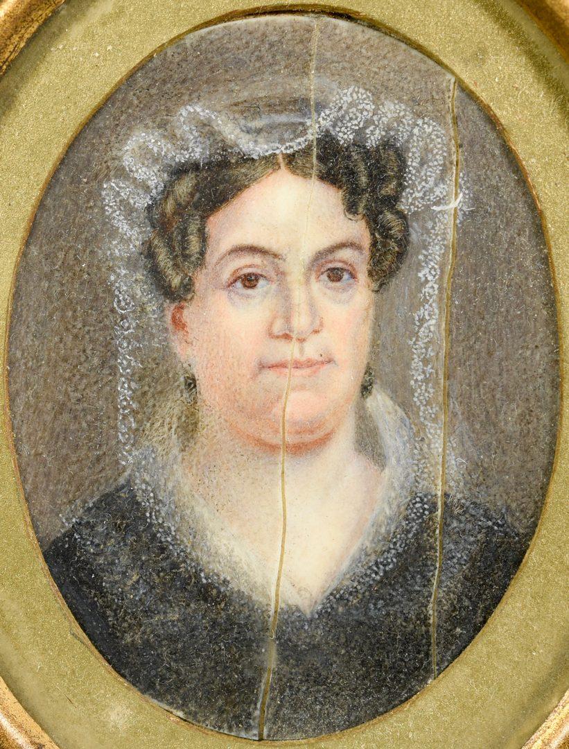 Lot 218: Rachel Jackson Portrait Miniature