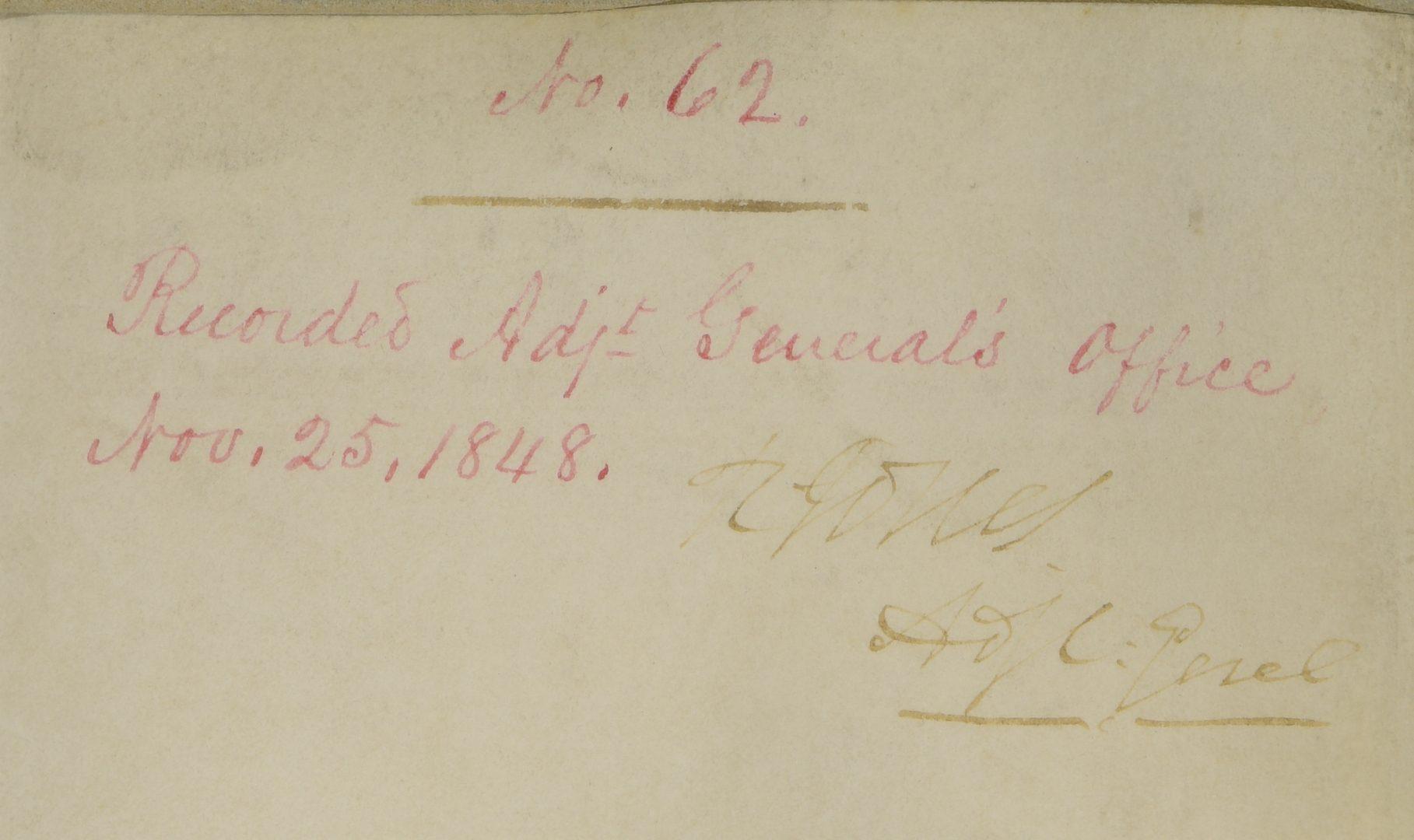 Lot 227: President James K. Polk Signed Certificate of Merit